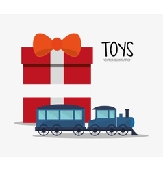 Train toy and game design vector image