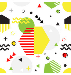 trendy seamless memphis style geometric pattern vector image