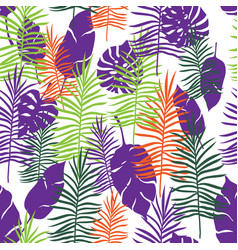 tropical color leaves vector image