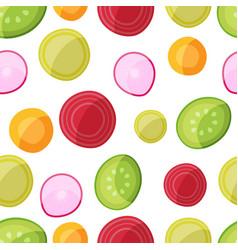 vegan food seamless pattern vector image