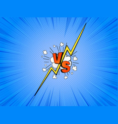 vs comics vector image