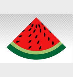 Watermelon fruit slice flat icons with triangle vector