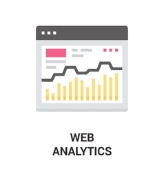 web analytics icon vector image