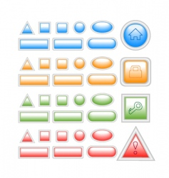 web buttons on white vector image vector image