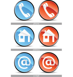 web contact buttons vector image