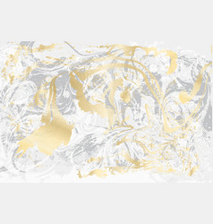 White and gray marble texture gold marbled vector