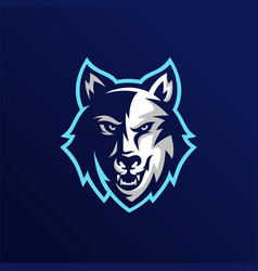 Wolf esport gaming mascot logo template vector