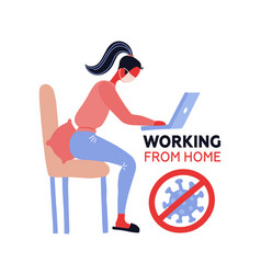 working from home coronavirus outside stay home vector image