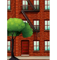 Fire escape on the apartment building vector image vector image