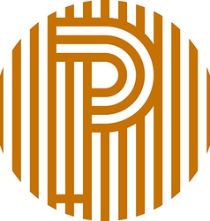 letter line p alphabet design vector image vector image