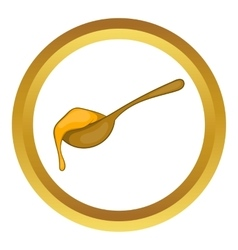 Spoon of honey icon vector image