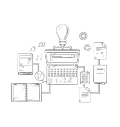 Web education and knowledge icons vector image