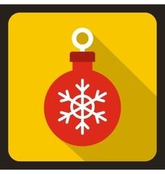 Christmas ball icon flat style vector image
