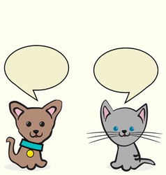 dog and a cat vector image