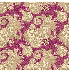 hand draw ornate floral vintage seamless pattern vector image vector image