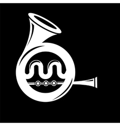 Musical French Horn Icon vector image