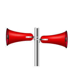 old loudspeaker system in red design vector image vector image
