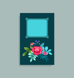 photo album cover design hand drawn pink flowers vector image