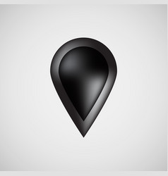 black bubble map pointer badge vector image vector image