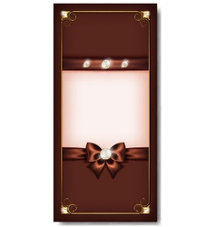Greeting card brown vector image vector image