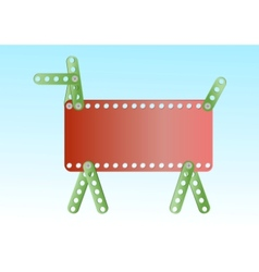 metal constructing dog vector image vector image