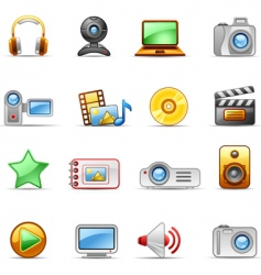 photo and video icons vector image