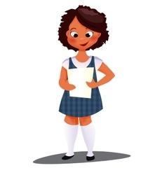 Preschool afro girl vector