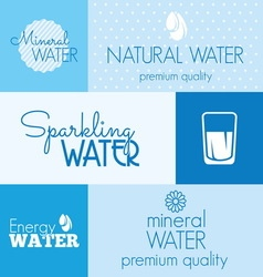 water label resize vector image vector image