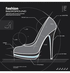 Woman shoe design vector image vector image