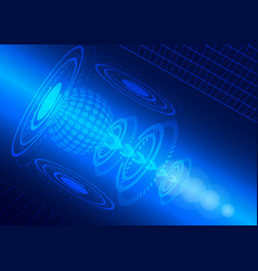 abstract digital technology blue background vector image vector image