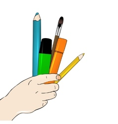 Arts concept vector image vector image