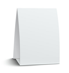 Blank paper table card vector image