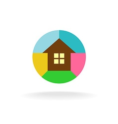 Colorful house logo vector image vector image
