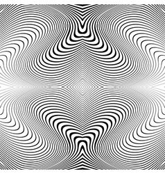 Design monochrome whirl lines motion background vector image