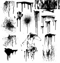 dripping splatters of blood vector image vector image