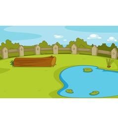 Empty park scene vector image vector image