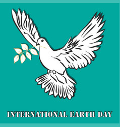 international day of peace dove of vector image