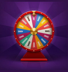 realistic 3d spinning fortune wheel lucky vector image vector image