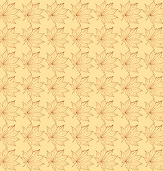 The pattern of maple leaves vector image