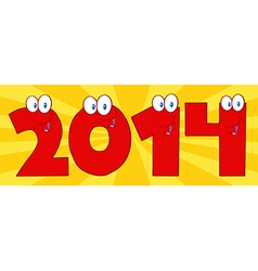 2014 cartoon card vector image
