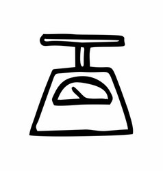 A scales freehand vector