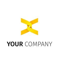 Abstact ribbon Logo template vector image