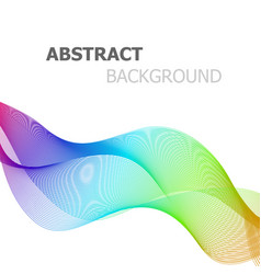abstract colorful line wave on white background vector image vector image