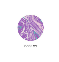 abstract marble logo brand company design vector image