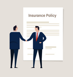 agreement insurance policy insurance claim vector image