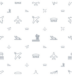 Airplane icons pattern seamless white background vector
