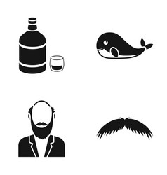 alcohol animal and or web icon in black styleold vector image