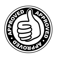 Approved thumbs up icon vector