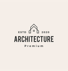 architecture house hipster vintage logo icon vector image