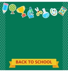Back to school board items vector
